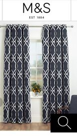 M&S Dark Blue curtains, 2 pairs each 168x229cm, as new
