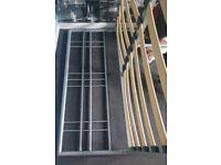 Metal colour, metal double divan , base frame