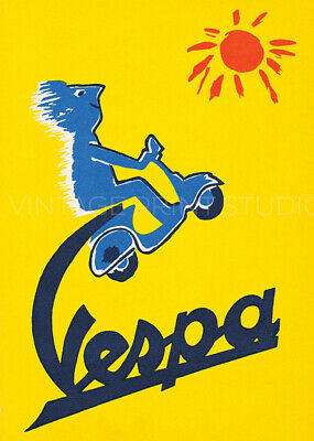 Italian Motor Scooter Vespa Vintage Advertisement Giclee Canvas Print 20x28