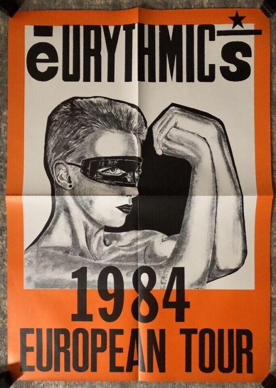 Eurythmics Vintage Poster 1984 European Tour Original Music Pin-up Concert Promo