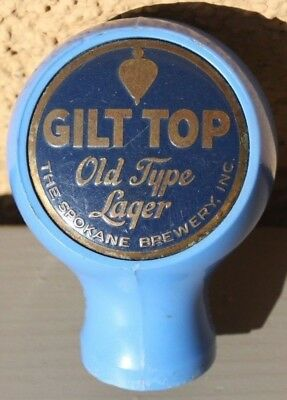 Gilt Top Light Blue Case/Back Button Beer Ball Knob/Tap Handle Spokane, WA