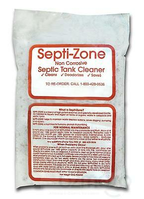 The Original SEPTI-ZONE Septic Tank/System Cleaner Clean Sewage Enzyme Treatment
