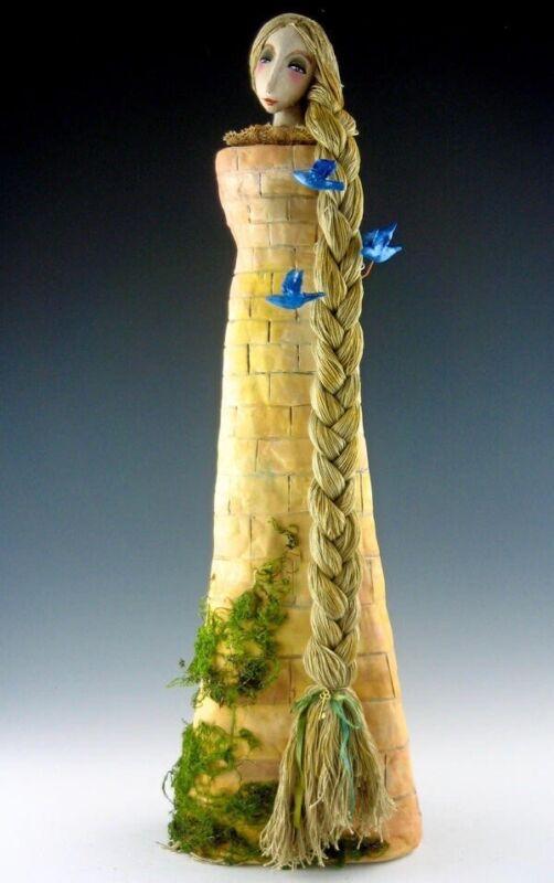 "Cloth Art Doll Pattern Class Tutorial ""Rapunzel"" By Cindee Moyer"