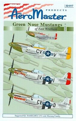 AERO MASTER 32-016 GREEN NOSE MUSTANGS OF EAST WRETHAM PT. 1 1/32 FREE SHIPPPING