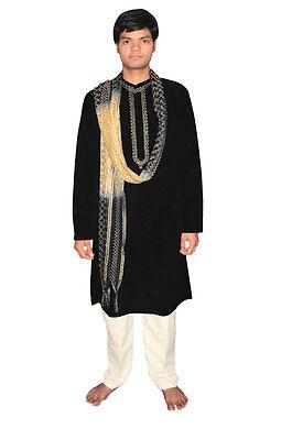 Bollywood Herrenset Indien Orient Schwarz in 5 Größen verfügbar ()
