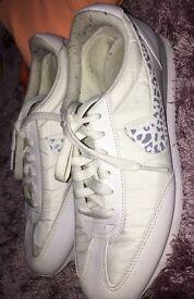 White girls Nike trainers