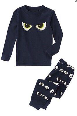 Crazy 8 By Gymboree Gymmies Boys Halloween Dark Eyes Pajamas Size 5 PJ's - Crazy 8 Halloween