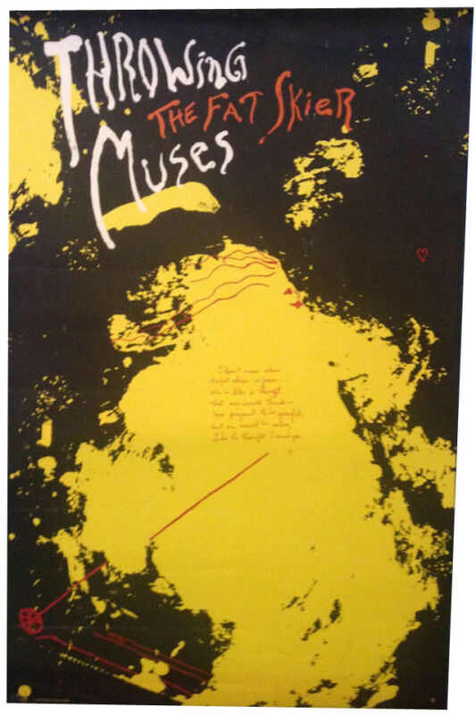 Throwing Muses 14x22 The Fat Skier, original US promo poster