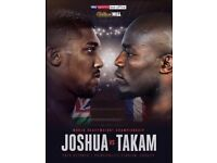 2 tickets for Joshua vs Takam