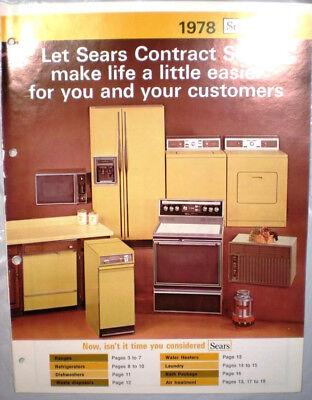 Vtg SEARS Kenmore Appliances Catalog RETRO Kitchen Ranges Oven Refrigerator 1978