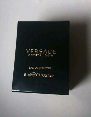 Versace Crystal Noir EDT 5ml Miniature **BNIB**
