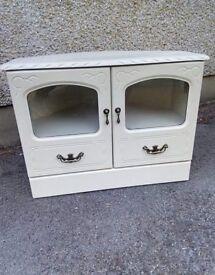 cream wooden tv unit