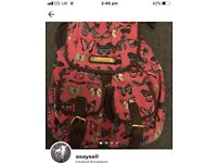 Pink butterfly ruck sack