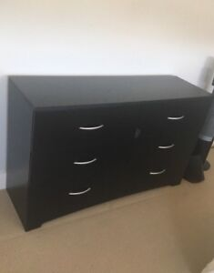 Black 6 drawer dresser $100 OBO