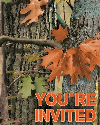 Camo Invitations (Hunting Camo Invitations 8 ct Birthday Party Woods Bachelor)