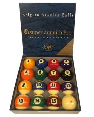 NEW SUPER ARAMITH PRO POOL BALLS - BELGIAN - FREE SHIPPING