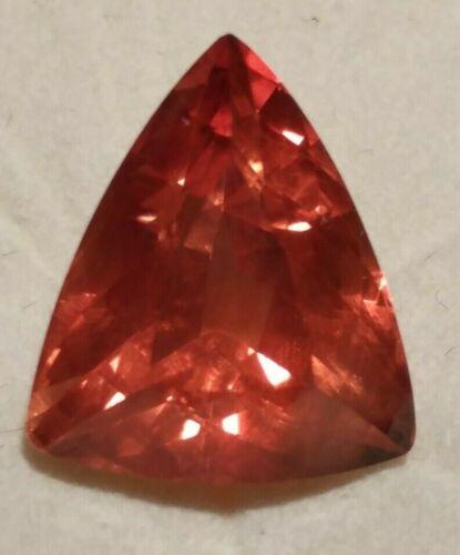 Natural TOP Color Bright Orange Oregon Sunstone Trillion 6.2 cts.