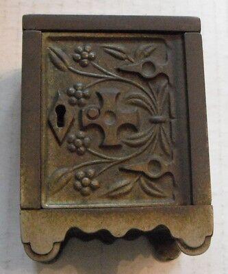Cast Iron Bank--1897 Patent....Key Lock Safe # 50...J.E. Stevens