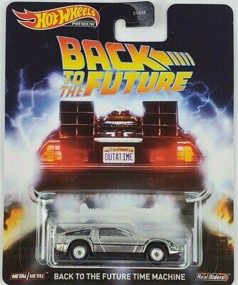 Hot Wheels Back to the Future Time Machine Car Retro Entertainment DMC55 Mattel