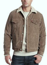 Vintage Levi's Men's Jacket -Type 3 Sherpa Trucker Long Sleeve (light) Brown CORDUROY M (36-40) £45