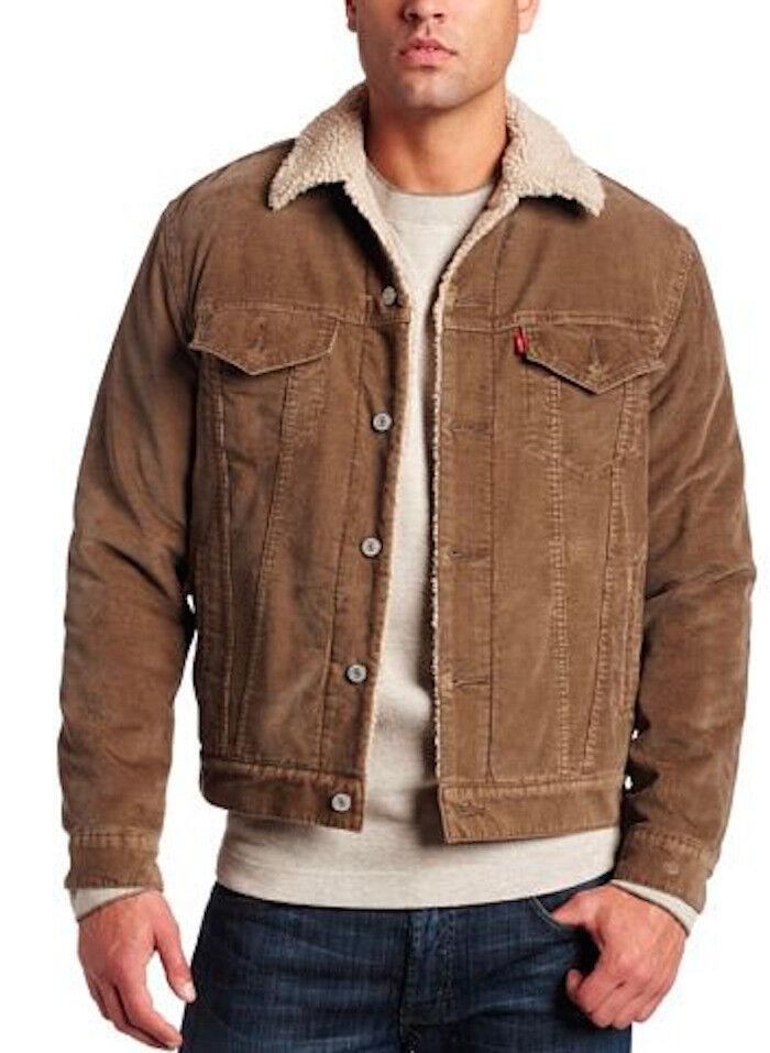 Levi's Type 3 Sherpa Trucker Long Sleeve Jacket, Light Brown CORDUROY size M 36-40