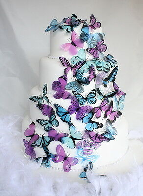 Butterfly Cake Toppers or Decorations - Orchid, Teal, Aqua, Baby Blue