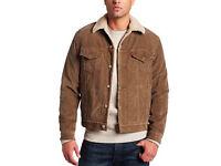 Levi's Men's Type 3 Sherpa Trucker Long Sleeve Jacket, Brown CORDUROY size M 36-40 Vintage Classic