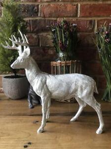 Vintage Stag Deer Reindeer Antlers Head Decorative Ornament Sculpture Large 35cm