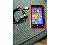 Nokia lumia 520. red. nice condition. Look-