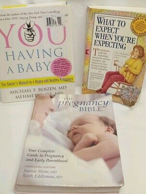 Used, Lot of 3 Pregnancy Birth Baby Books - Pregnancy Bible, You having a baby, expect for sale  Shipping to South Africa