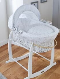 New clair de lune Moses basket