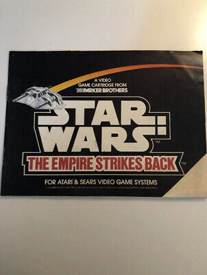 Atari 2600 Star Wars The Empire Strikes Back Manual Only Rare Ex Condition