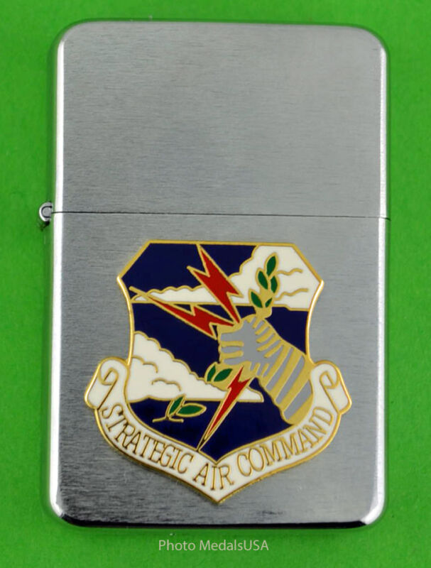 SAC  STRATEGIC AIR COMMAND WIND PROOF PREMIUM LIGHTER IN A GIFT BOX  USAF SB52