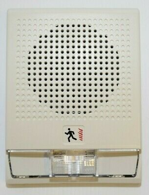Edwards Est Genesis Cg4-s7vm White Wall Mount Speakerstrobe Fire Alarm Ulc