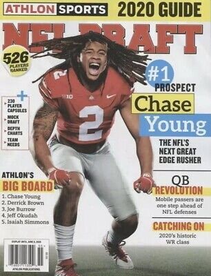 ATHLON SPORTS NFL FOOTBALL DRAFT 2020 GUIDE MAGAZINE CHASE YOUNG BRAND NEW