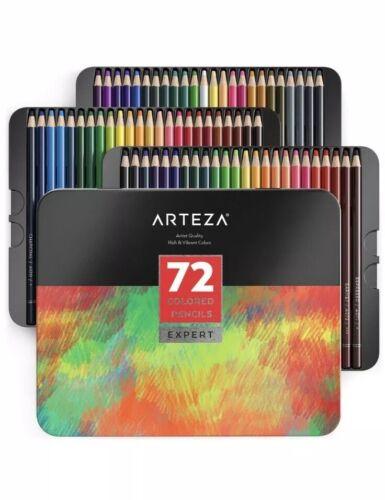 Arteza Professional Colored Pencils Set of 72 Art Charcoal D