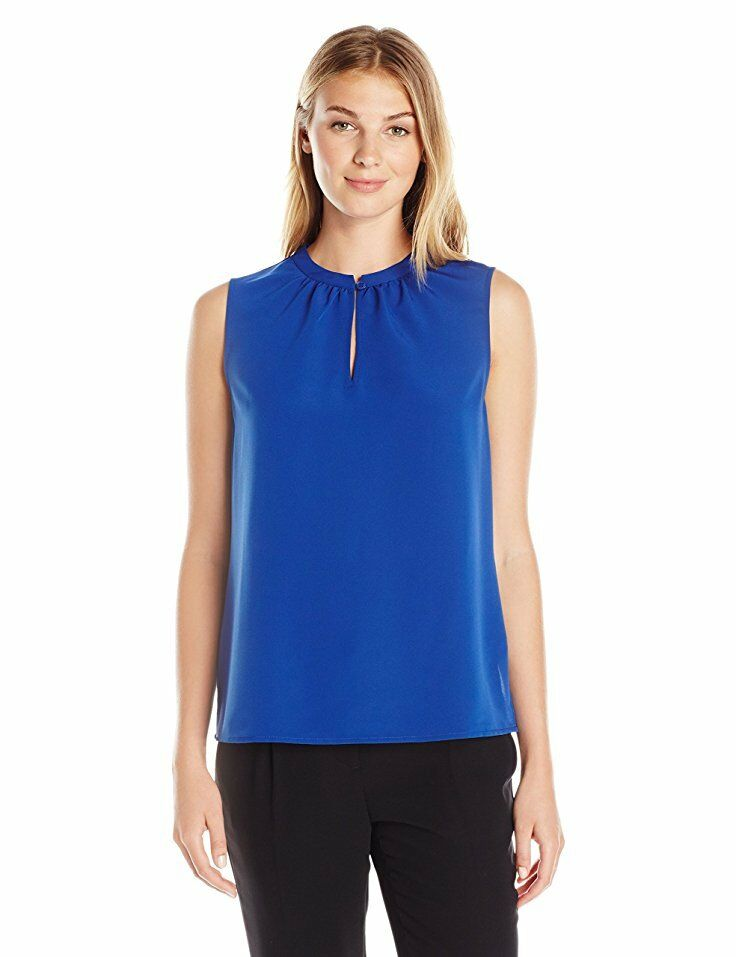 Lark & Ro Women's Printed Single-Button Sleeveless Top # LAR