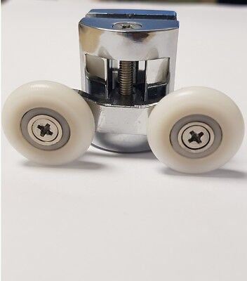 Twin Shower Door Cam Wheels 28mm Rollers for Steam Showers Pods Cabins 4 Pack for sale  Stoke-on-Trent
