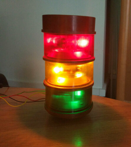 Signal Tower Light 24v RED YELLOW GREEN lamp USSR
