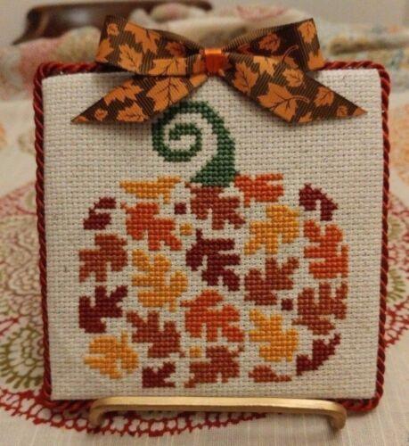 "Finished Cross Stitch  ""Pumpkin""  Autumn"