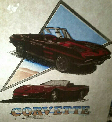 Retro Vintage Corvette Heat Press Transfer- Lot Of 2
