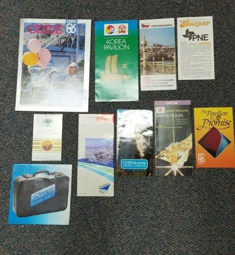 OFFICIAL SOUVENIR GUIDE EXPO 86 + 23 OTHER EXPO ITEMS, VANCOUVER GREAT SELECTION