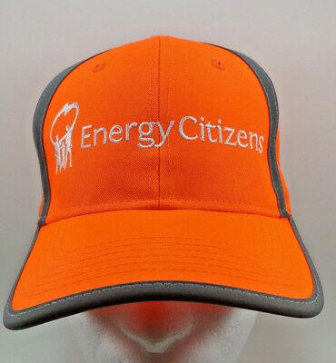 Energy Citizens Orange Strap Back Baseball Dad Cap Hat Hunter Orange