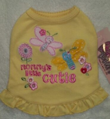 Dog Clothing MOMMYS LITTLE CUTIE Tank Top Cha cha Couture  SIZE: Large