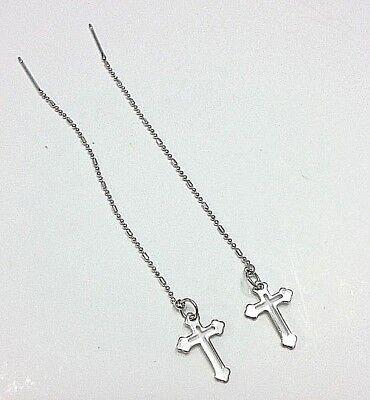 (Cross Style Dangle Threader earrings #2)