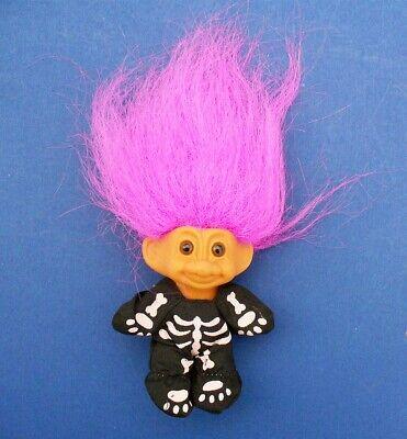 "Troll Halloween Costume (Russ TROLL DOLL Halloween Vintage SKELETON Figure Costume 3"" Pink)"