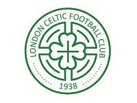 Football Trials, Semi-pro. London celtic fc, International Partners Glasgow Celtic fc.
