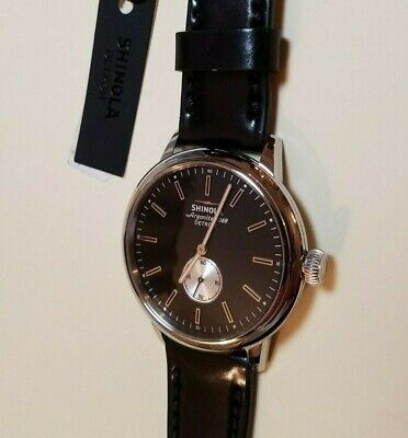 Shinola THE BEDROCK 42mm Men's Watch-Black Face- BRAND NEW