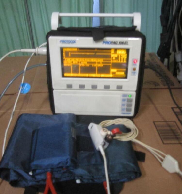 PROPAQ 106EL MULTI-PARAMETER PATIENT MONITOR ecg nibp bp Philips recorder