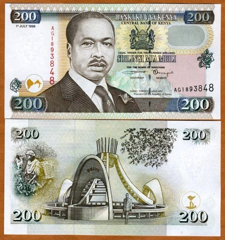 Kenya, 200 shillings, 1998, P-38c, UNC